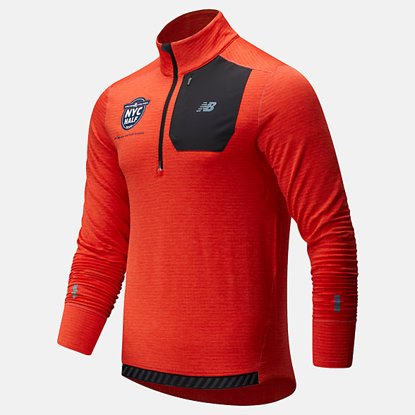 New Balance 2020 United Airlines Half NB Heat Grid Half Zip, MT93220CTOH