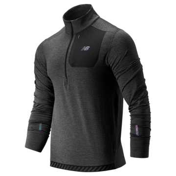 New Balance NB Heat QTR Zip, Heather Charcoal