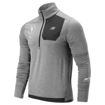 New Balance NYC Marathon Heatgrid Half Zip, Athletic Grey