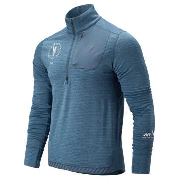 New Balance NYC Marathon Heatgrid Half Zip, Chambray
