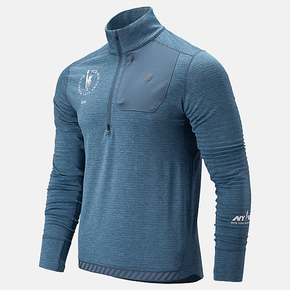 New Balance NYC Marathon Heatgrid Half Zip, MT93220MCKY