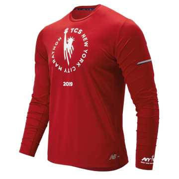 New Balance NYC Marathon NB Ice 2.0 Long Sleeve, Team Red