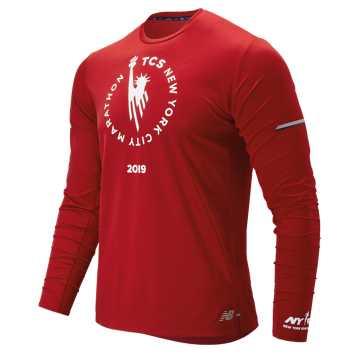 New Balance NYC Marathon NB Ice 2.0 Long Sleeve, Team Red