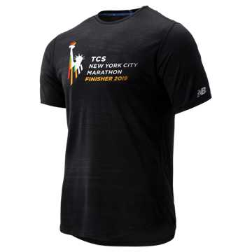 New Balance NYC Marathon Q Speed Breathe Short Sleeve, Black