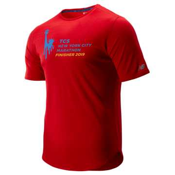 New Balance NYC Marathon Q Speed Breathe Short Sleeve, Team Red