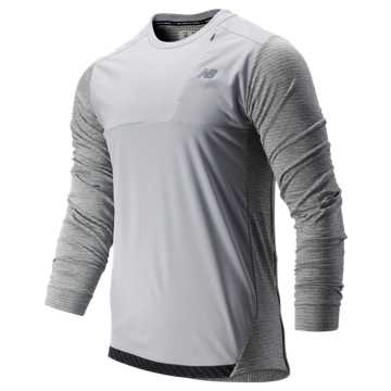 New Balance Q Speed Run Crew Pullover, Athletic Grey