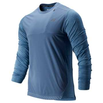 New Balance Q Speed Run Crew Pullover, Chambray