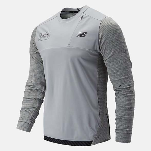 NB LDN Q Speed Run Crew Pullover, MT93256DAG