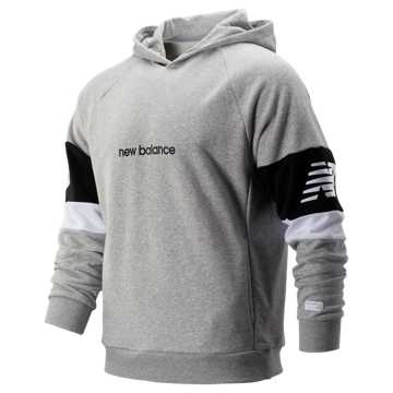 New Balance NB Athletics Classic Hoodie, Athletic Grey with Black & White