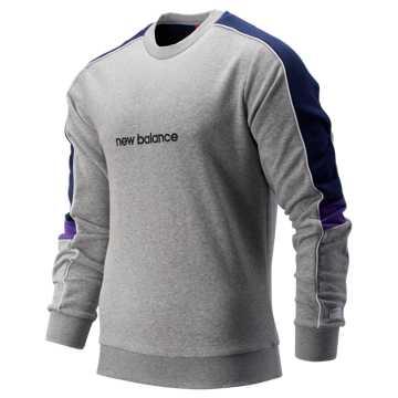 New Balance NB Athletics Classic Crew, Athletic Grey with Pigment & Prism Purple