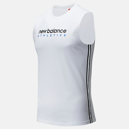 New Balance NB Athletic Tank, MT93505WT image number null