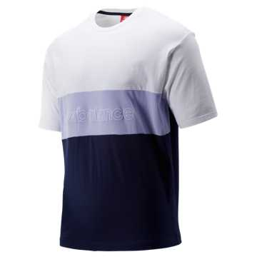 New Balance NB Athletics Classic Tee, Pigment with White & Clear Amethyst
