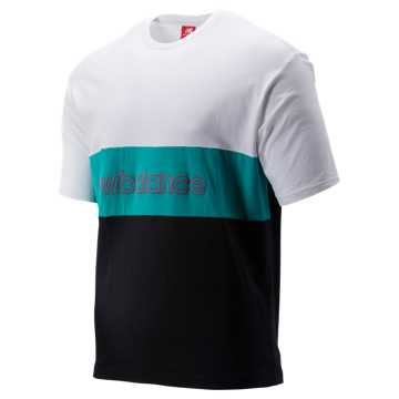 New Balance NB Athletics Classic Tee, Verdite with White & Black