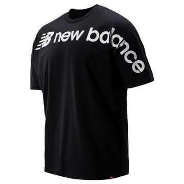 New Balance Sport Style Optiks Oversized Tee, Black