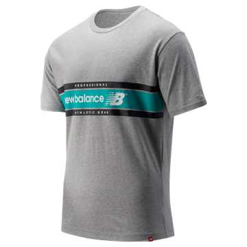 48b9806a08bad New Balance NB Athletics Arc Tee, Athletic Grey with Verdite