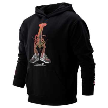 New Balance Poster Pack Lobster Hoodie, Black