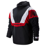 NB NB Athletics Stadium Insulated Anorak, Black with Team Red & Sea Salt