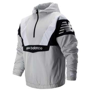 New Balance NB Athletics Stadium Insulated Anorak, Summer Fog with Black & White