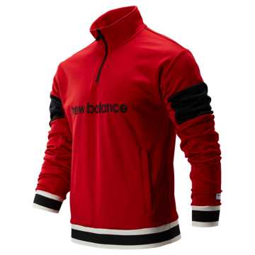 New Balance NB Athletics Stadium Track Pullover, Team Red with Black
