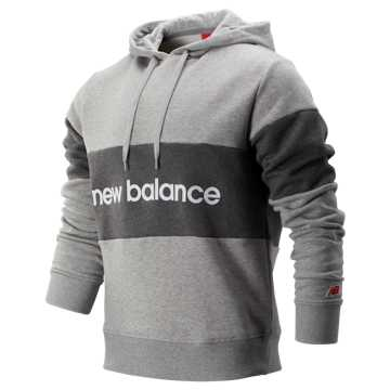 New Balance NB Athletics Stadium Hoodie, Athletic Grey with Dark Heather Grey