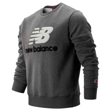 New Balance NB Athletics Stadium Crew, Dark Heather Grey