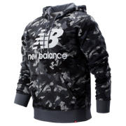 New Balance Printed Essentials Stacked Logo Po Hoodie, Gunmetal