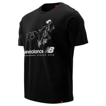 New Balance NB Athletics Throwback Tee, Black