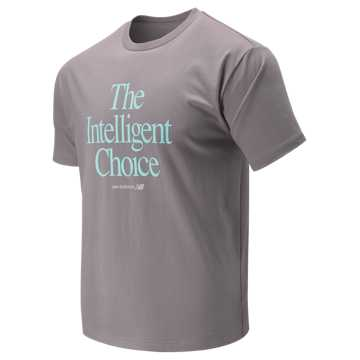 New Balance Intelligent Choice Tee, Dark Cashmere with Ozone Blue Glow