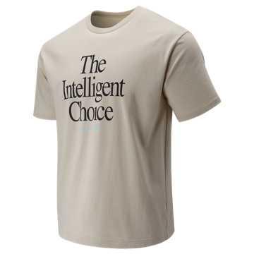 New Balance Intelligent Choice Tee, Moonbeam with Black