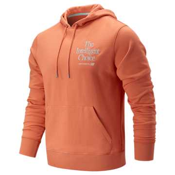 New Balance Intelligent Choice Hoodie, Natural Peach with Ozone Blue Glow