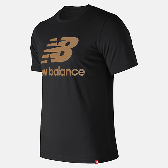 New Balance Essentials Relaxed fit Stacked Logo Tee, MT93605BM