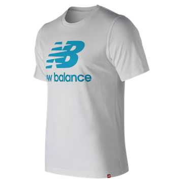 New Balance Essentials Relaxed fit Stacked Logo Tee, Bayside