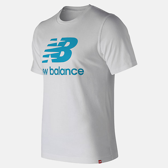 New Balance Essentials Relaxed fit Stacked Logo Tee, MT93605BYS