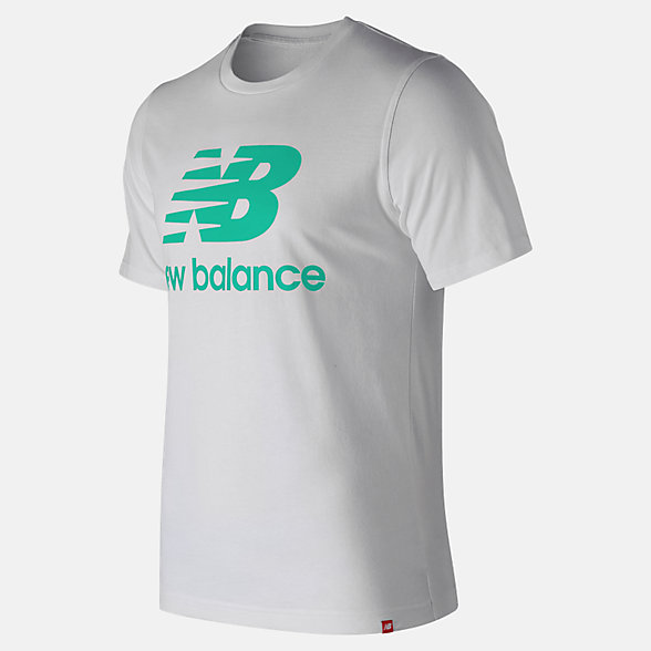 New Balance Essentials Relaxed fit Stacked Logo Tee, MT93605NEM