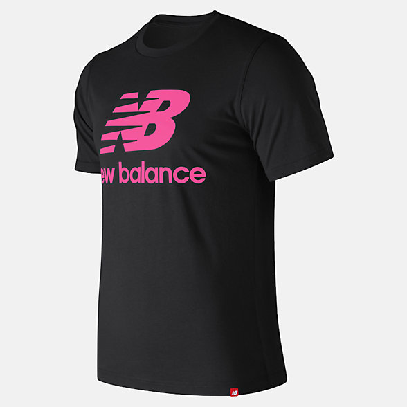 New Balance Essentials Relaxed fit Stacked Logo Tee, MT93605PEO