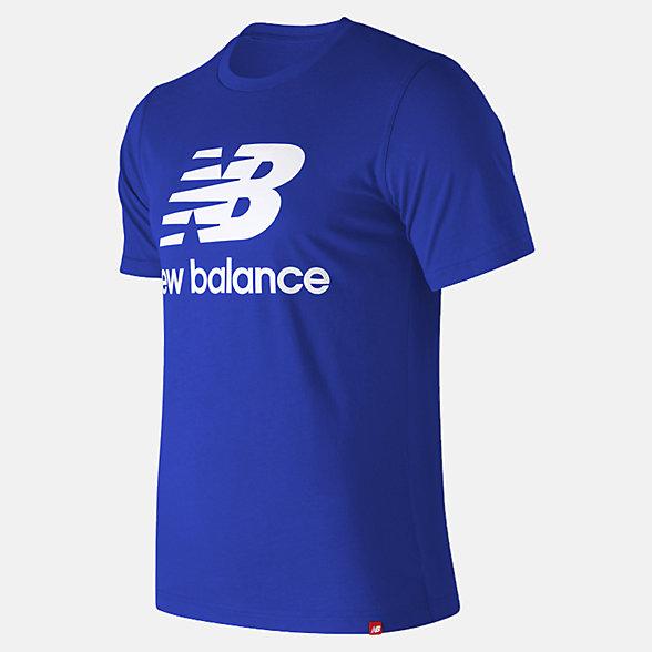 New Balance 籃球休閑系列男款字母LOGO短袖T恤, MT93605TRY