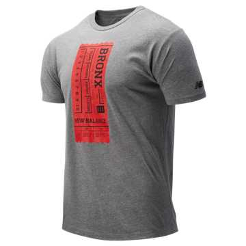 New Balance Bronx 10 Mile Ticket Tee, Grey