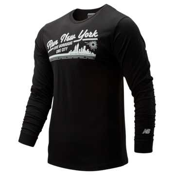 New Balance NYC Marathon Vintage Long Sleeve, Black
