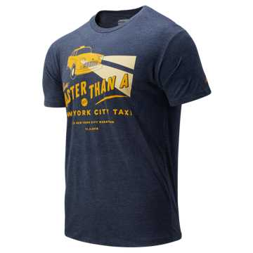 New Balance NYC Marathon Taxi Tee, Pigment Heather