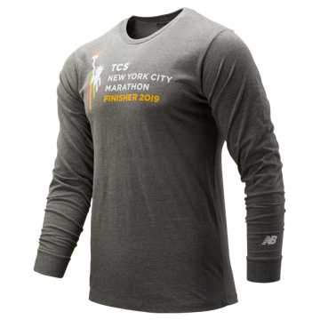 New Balance NYC Marathon Logo Finisher Long Sleeve, Athletic Grey