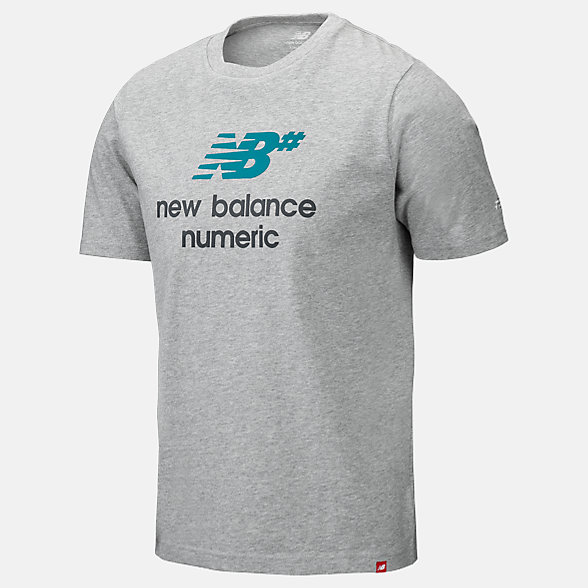 New Balance NB Numeric Logo Stacked Tee, MT93650AGM