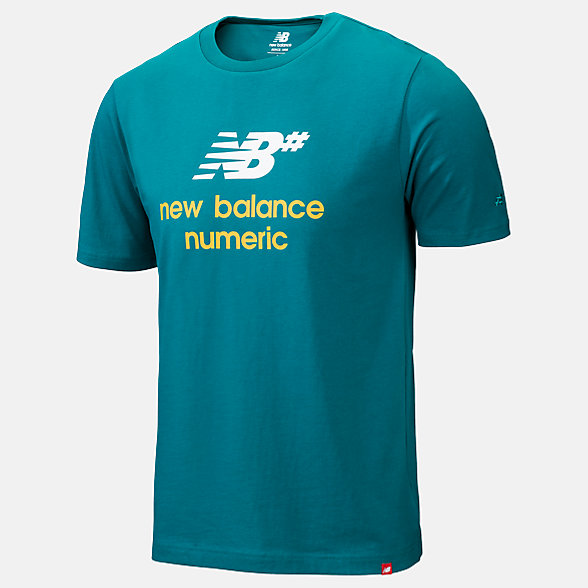 New Balance NB Numeric Logo Stacked Tee, MT93650TMT