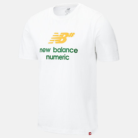 NB NB Numeric Logo Stacked Tee, MT93650WM image number null