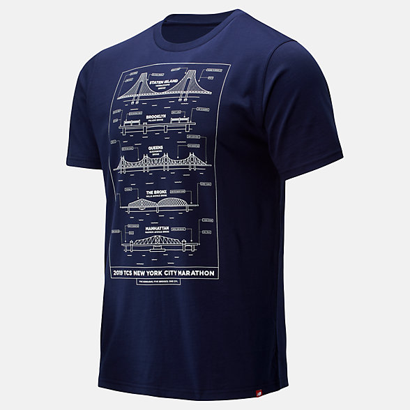 New Balance NYC Marathon Blueprint Tee, MT93653MNV
