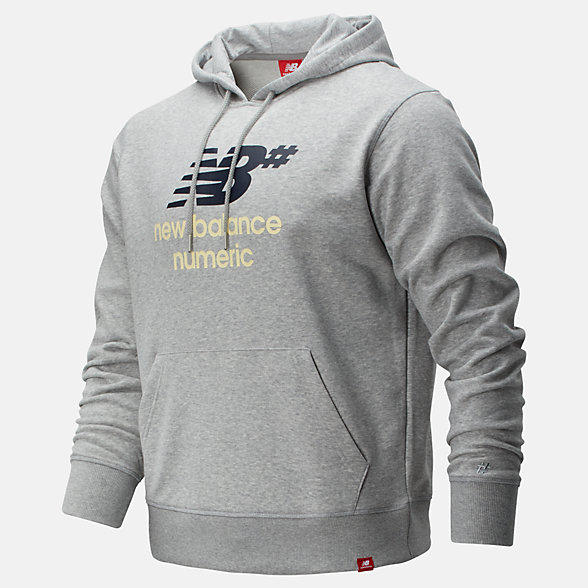 New Balance NB Numeric Logo Stacked Hoodie, MT93657AG
