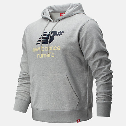 New Balance NB Numeric Logo Stacked Hoodie, MT93657AG image number null