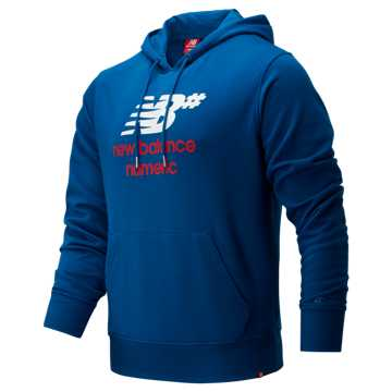 New Balance NB Numeric Logo Stacked Hoodie, Andromeda Blue
