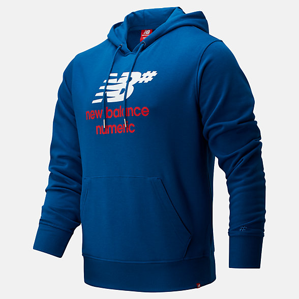 New Balance NB Numeric Logo Stacked Hoodie, MT93657ANB