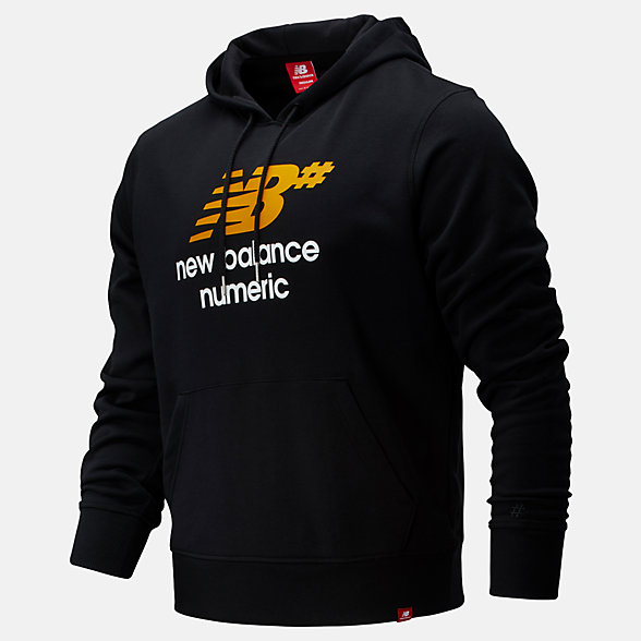 New Balance NB Numeric Logo Stacked Hoodie, MT93657BK