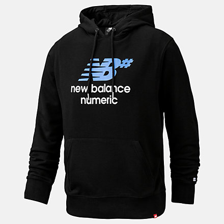New Balance NB Numeric Logo Stacked Hoodie, MT93657BM image number null